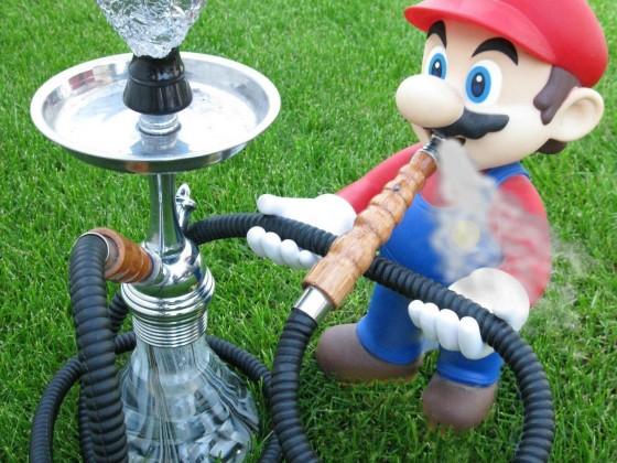 mario smokes shisha