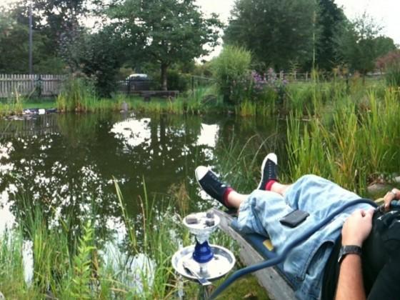 Gechillt am Teich